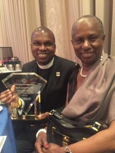 Father Constant & Lady Sylvia Charles, wife of the Ambassador of Dominica, Hubert Charles.
